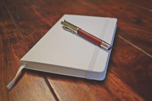 Tagebuch mit Füller